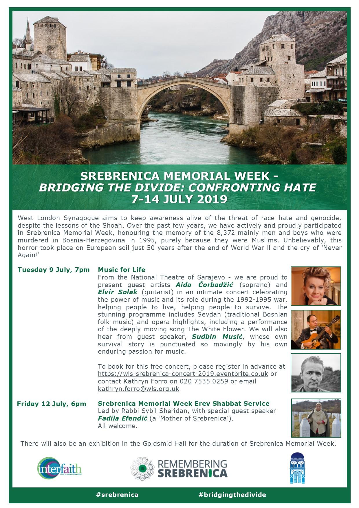 West London Synagogue Srebrenica concert