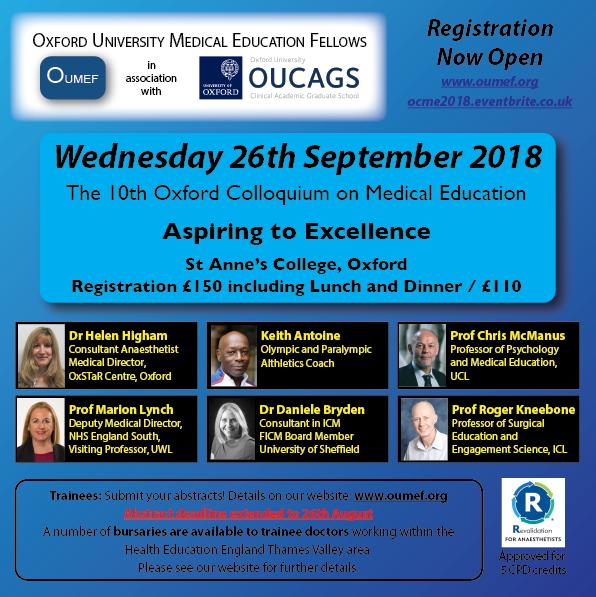 Registration Now Open - OCME 2018