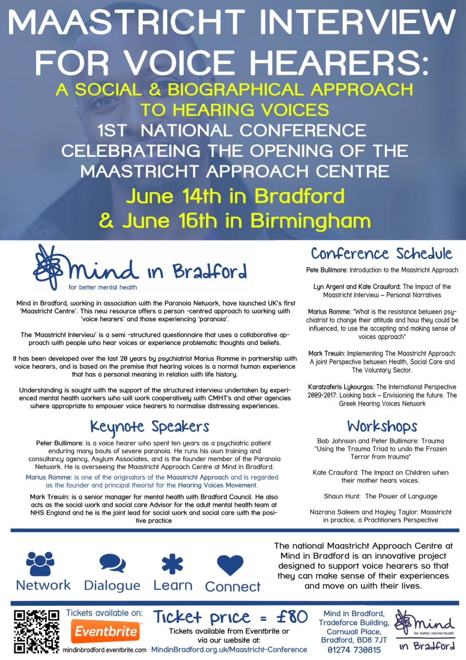 Mind in Bradford Maastricht Conference Flyer