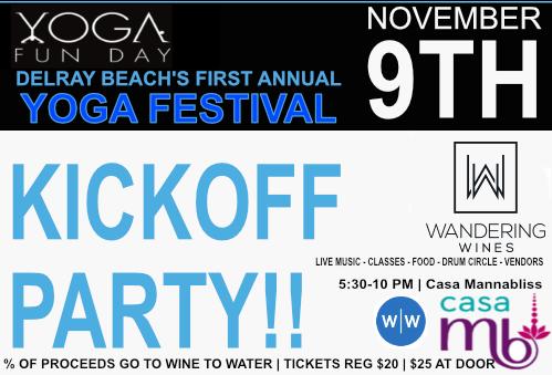 Kickoff Party Yoga Fun Day Delray Beach