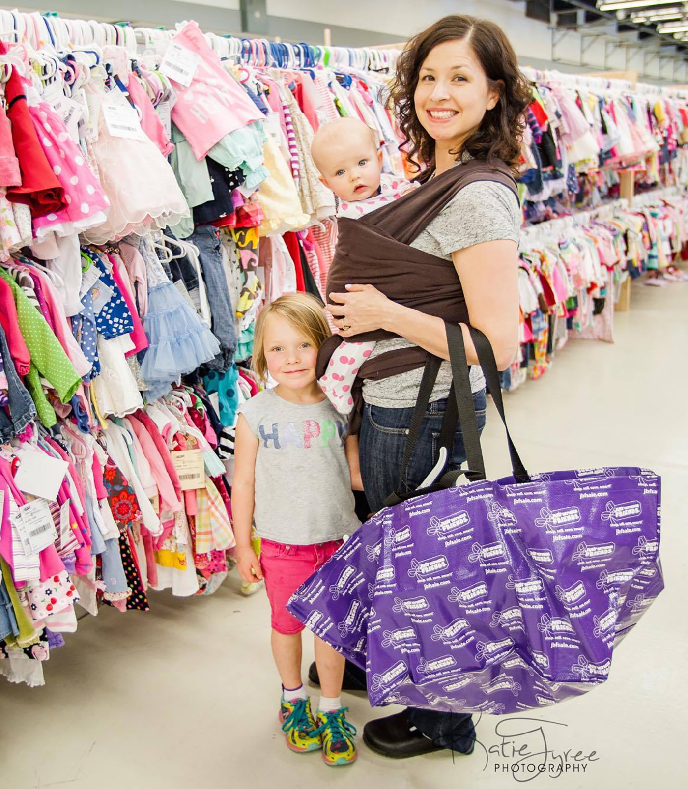 New Mother Shopping with Infant