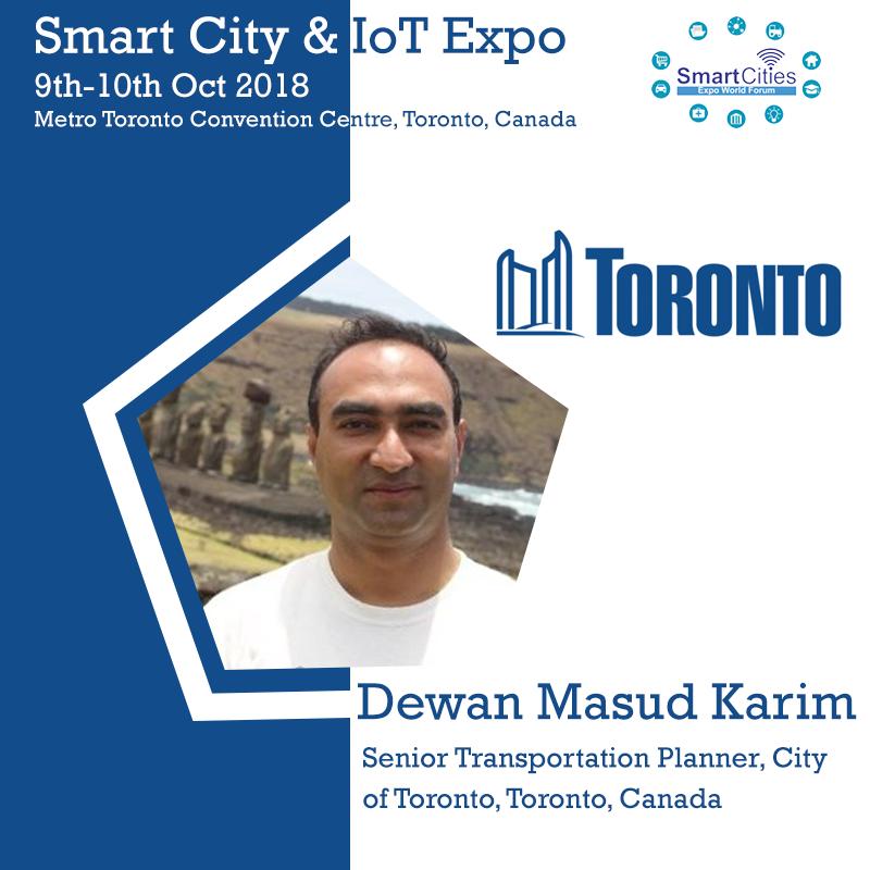 Dewan Masud Karim, Senior Transportation Planner, City of Toronto, Toronto, Canada