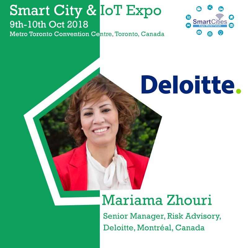 Mariama Zhouri, Senior Manager, Risk Advisory, Deloitte, Montréal, Canada