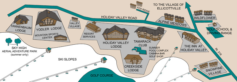 Map of Holiday Valley