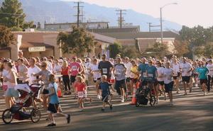 Running along foothill