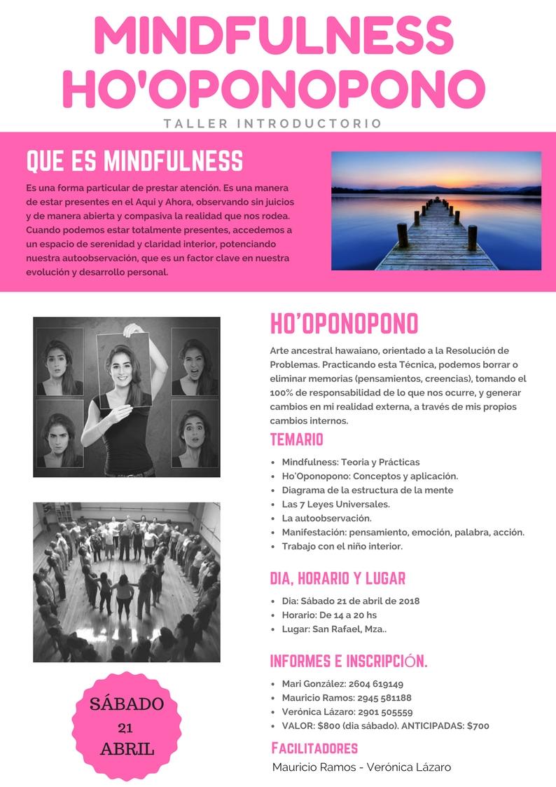 Seminario Mindfulness y Ho'Oponopono San Rafael