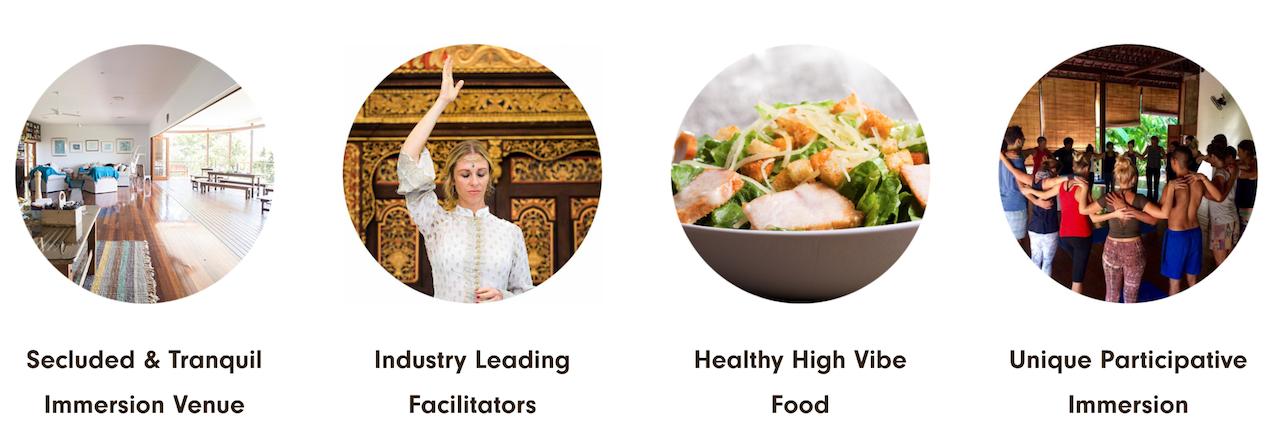 Serene Venue. Leading Facilitators. High Vibe Food. Participative Immersion.