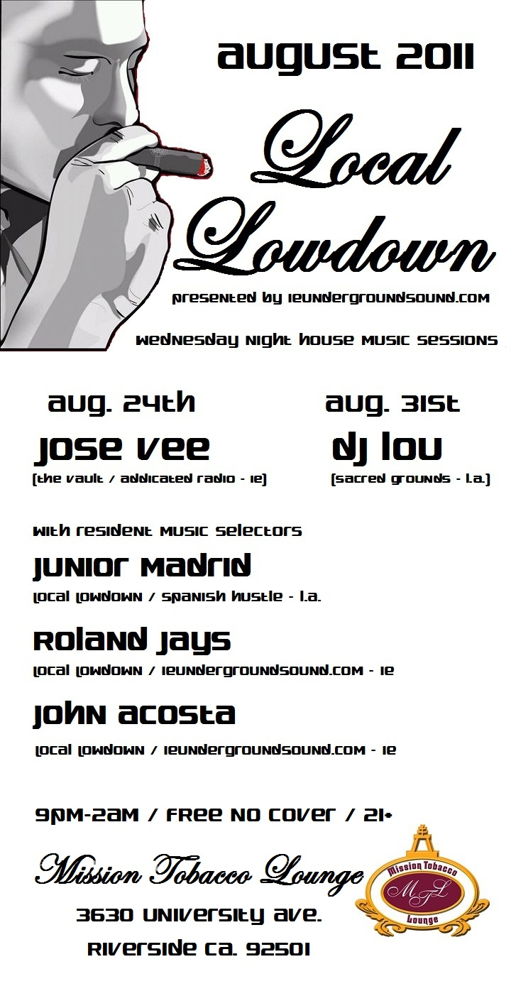 LOCAL LOWDOWN House Music Weekly 8/24