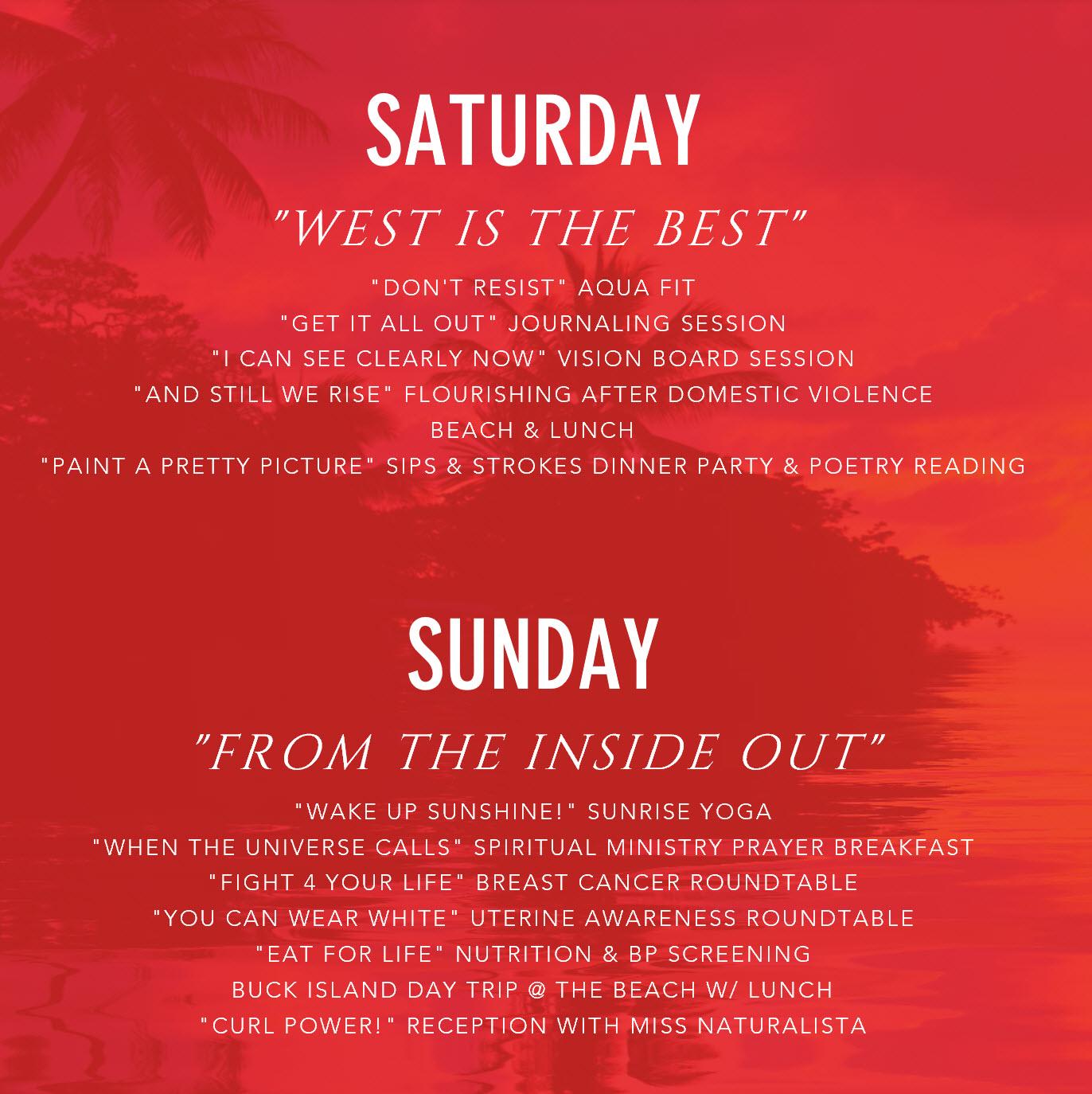 Saturday & Sunday Agenda Website
