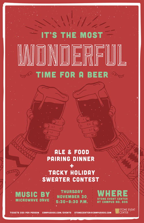 Beer pairing poster