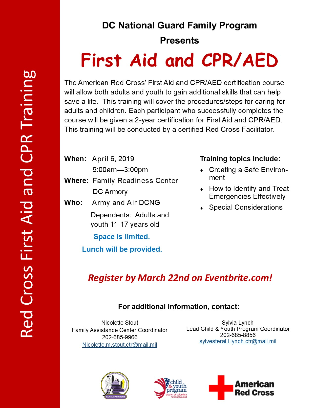 Red Cross First Aid And Cpraed Tickets Sat Apr 6 2019 At 900 Am
