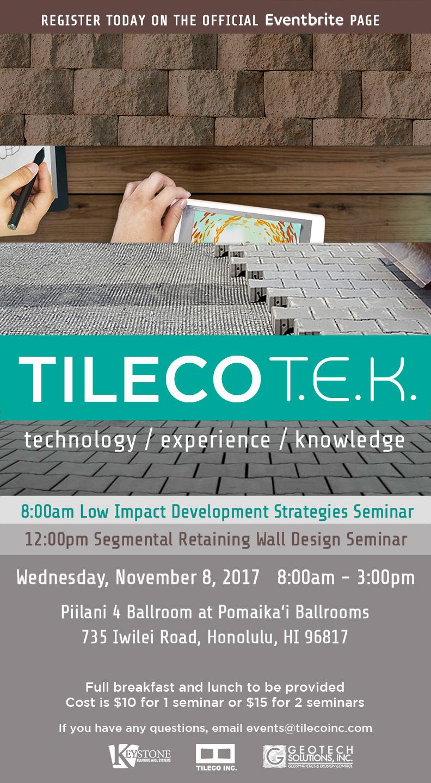 TilecoTEK 2017 Flyer