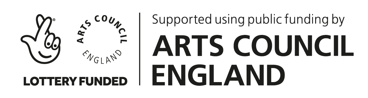 Arts Council England Lottery Funding logo