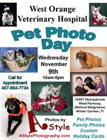 Pet Photo Day @ West Orange Veterinary Hospital