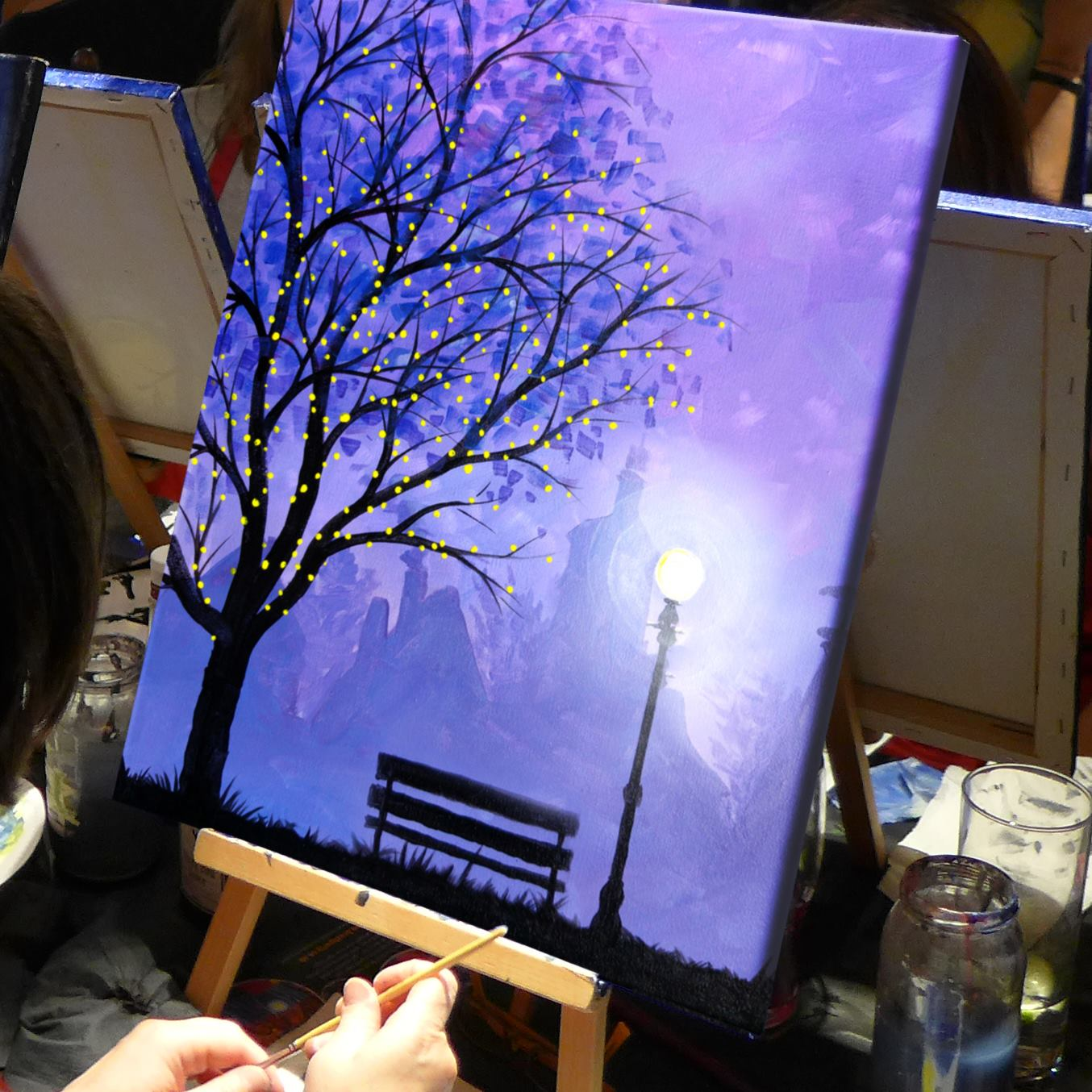 Winter Lights Brush Party