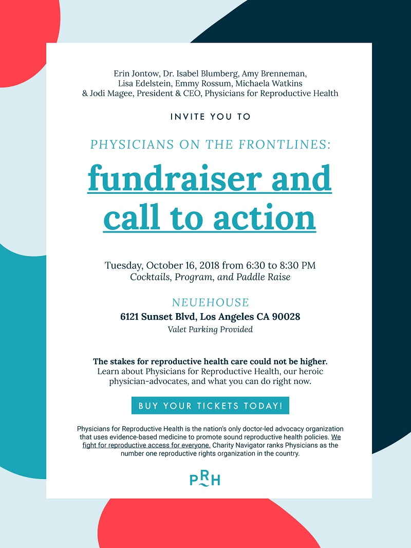 Physicians on the Frontlines: A Fundraiser and Call to Action