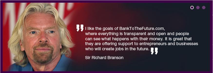 Richard Branson Backs BankToTheFuture.com