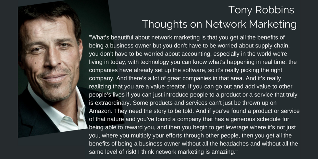 Tony Robbin Network marketing