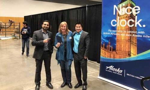 The winner of Alaska Airline's free flights