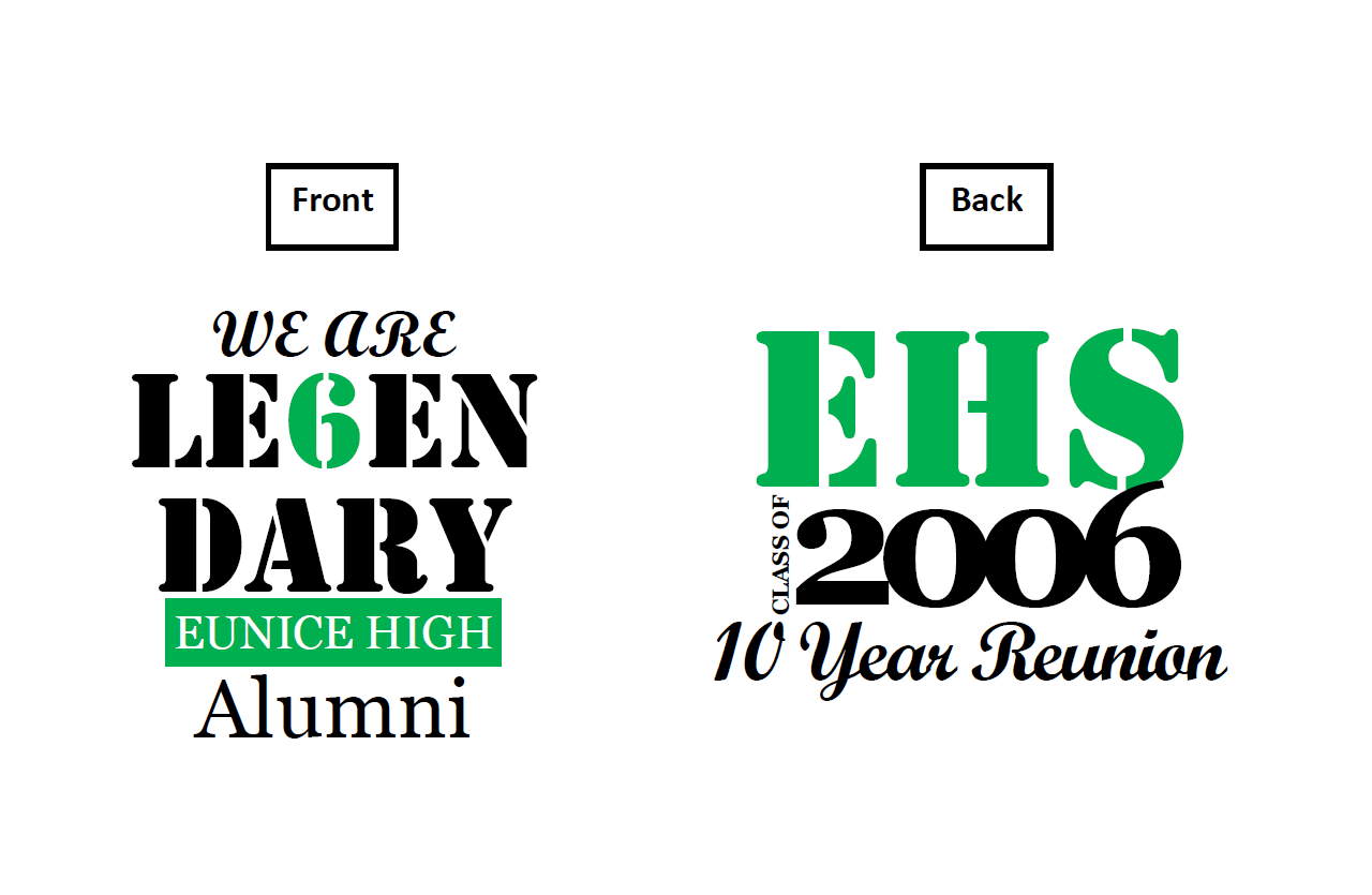 Shirt design for alumni homecoming - Reunion T Shirt Design