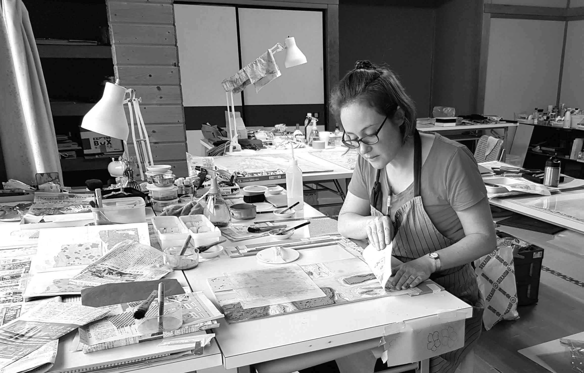 Jennifer in Japan at art residency
