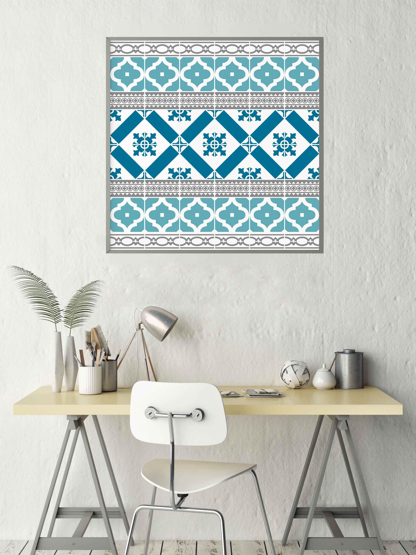 Turquoise Middle Eastern design artwork by Jennifer Lim