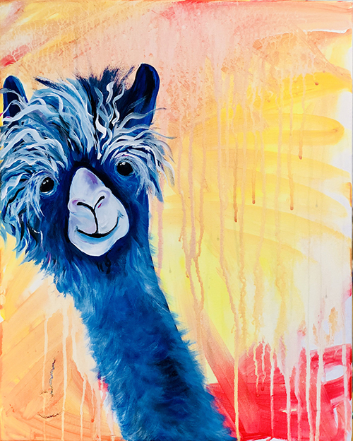 blue llama