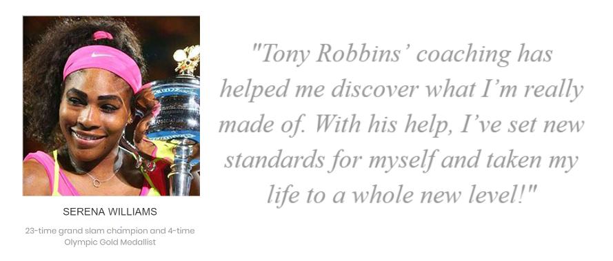 Serena Williams plus Quote about Tony Robbins