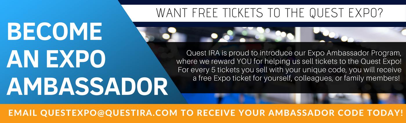 Become a Quest IRA Expo Ambassador!