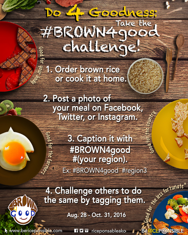 How to join the #BROWN4good Challenge