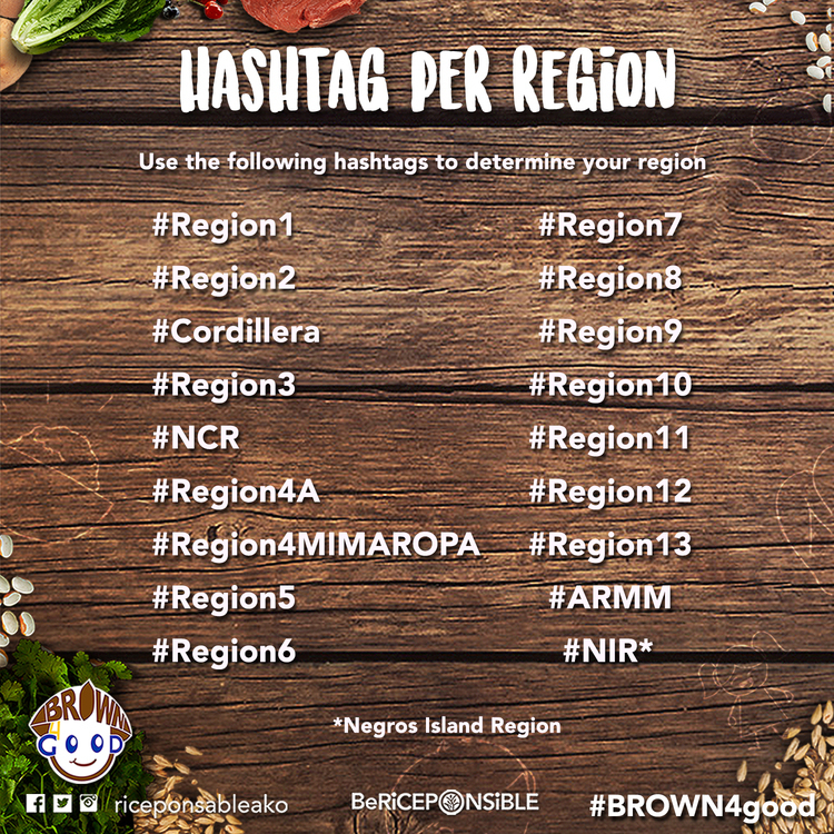 #BROWN4good Challenge - List of official hashtags per region