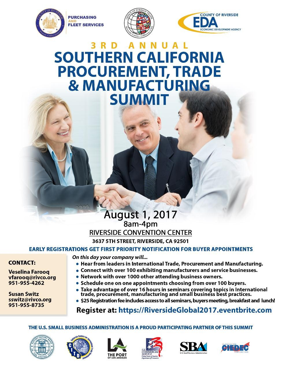 3rd Annual Southern California Procurement, Trade & Manufacturing Summit @ Riverside Convention Center