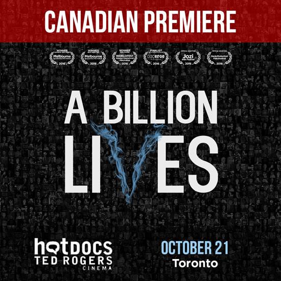 A Billion Lives Movie Screening Canada Toronto
