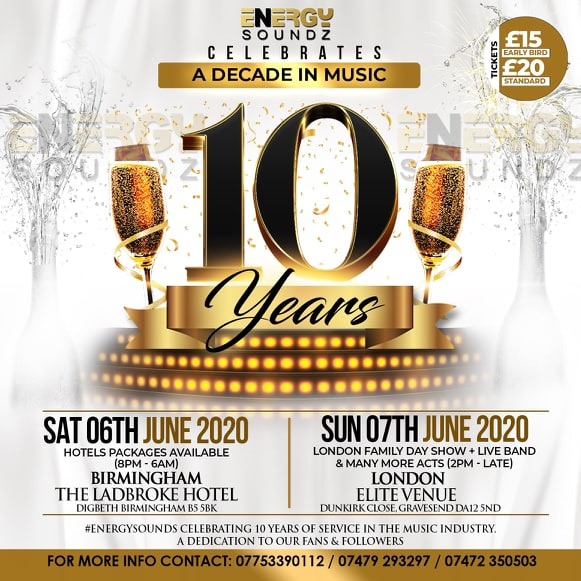 ENERGYSOUNDS 10 YEAR ANNIVESARY