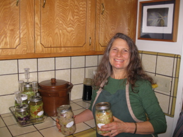Beth Love with fermenting sauerkraut