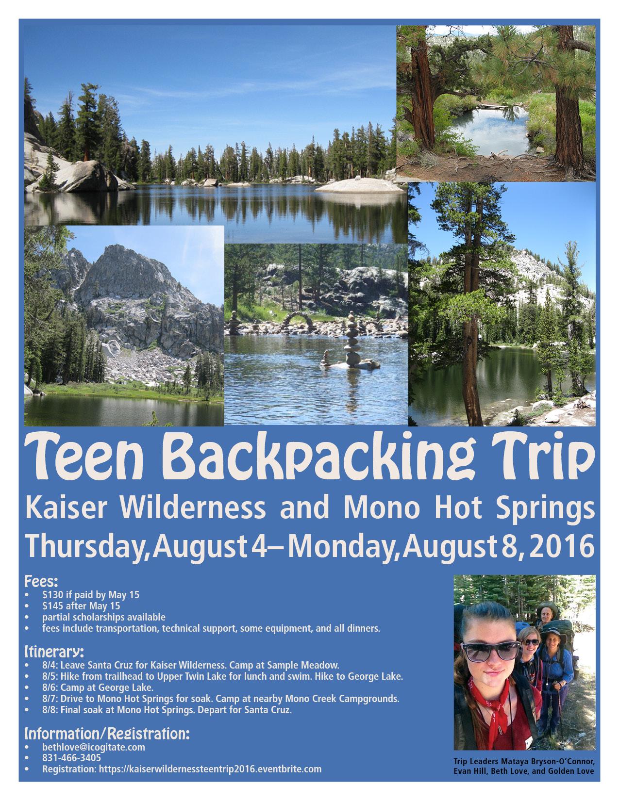 teen trip flyer