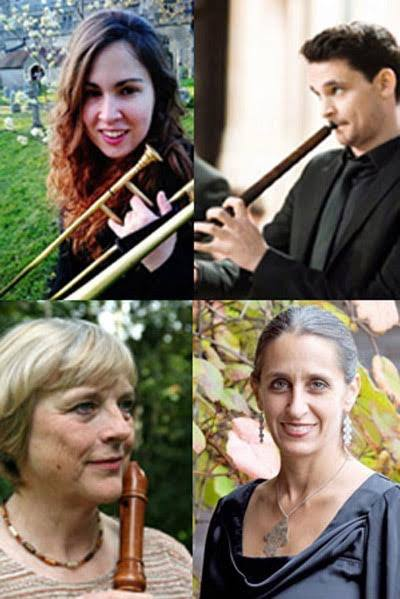 Featuring renowned musicians Eva Legêne, recorders, Conor Hastings, cornetto, Stephanie Dyer, sackbut, and Yonit Kosovske, harpsichord and chamber organ