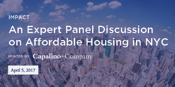 An Expert Panel on Affordable Housing in NYC Real Estate Breakfast hosted by Capalino+Company