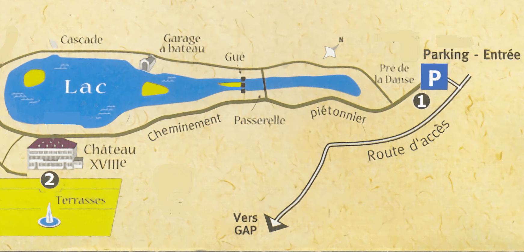 Plan d'accès Château de Charance