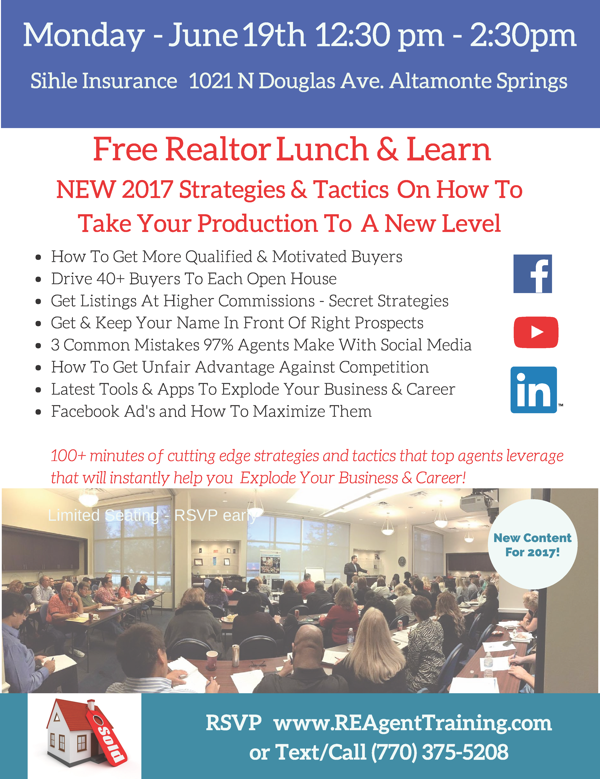 RSVP Realtor Event - Limited Seating