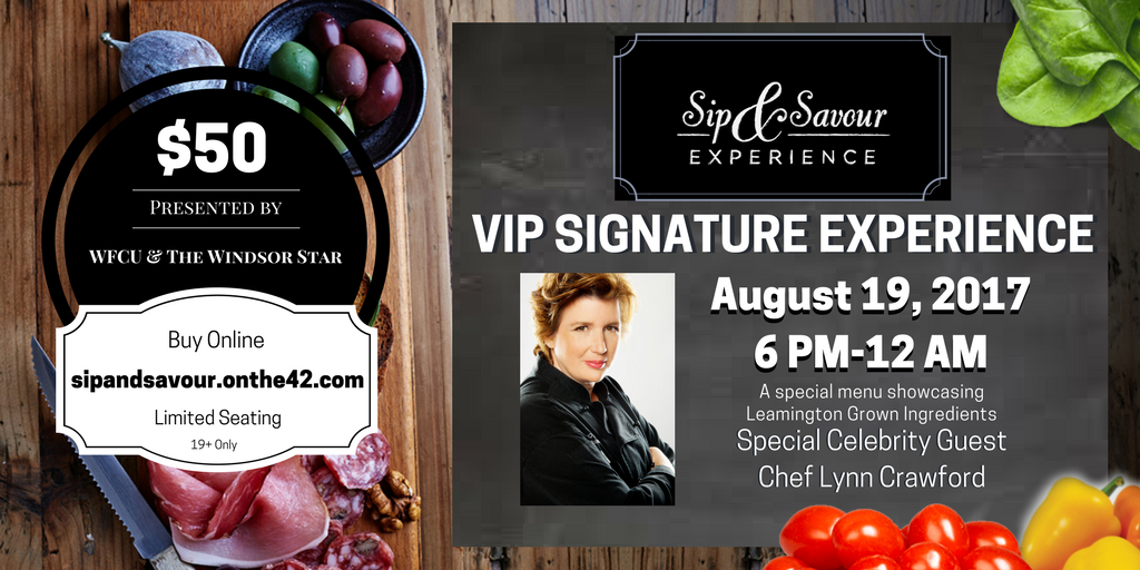 Sip and Savour Tickets Available