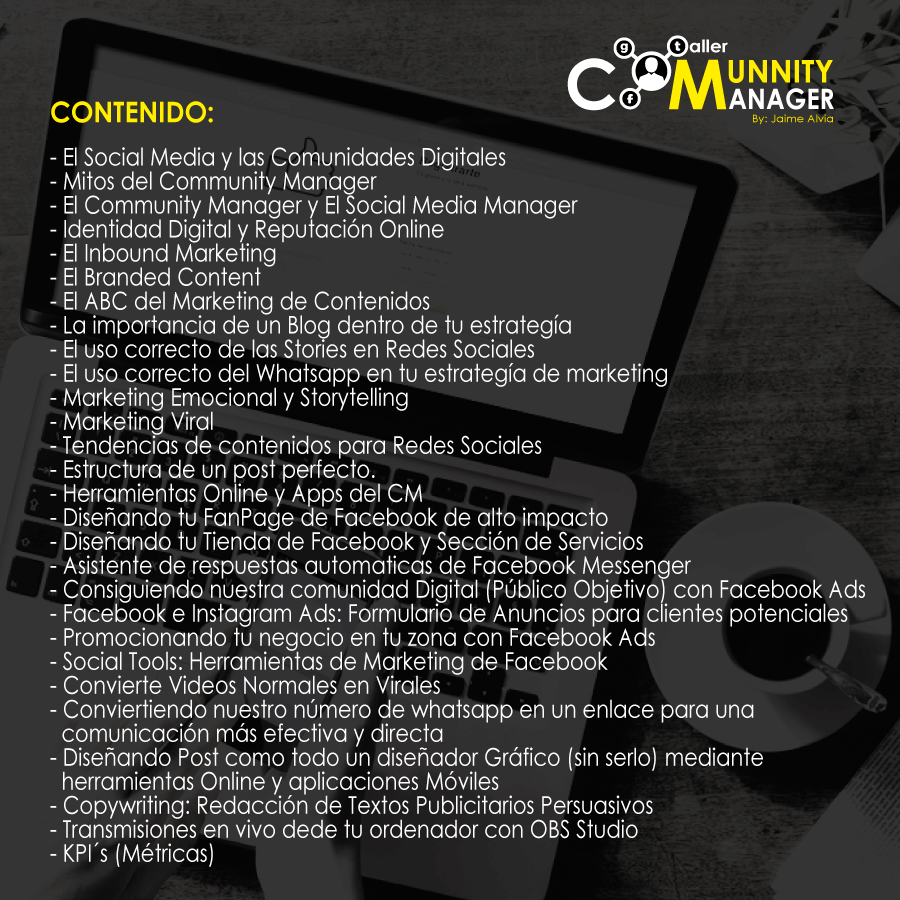Contenido Taller Community Manager Guayaquil Octubre 28