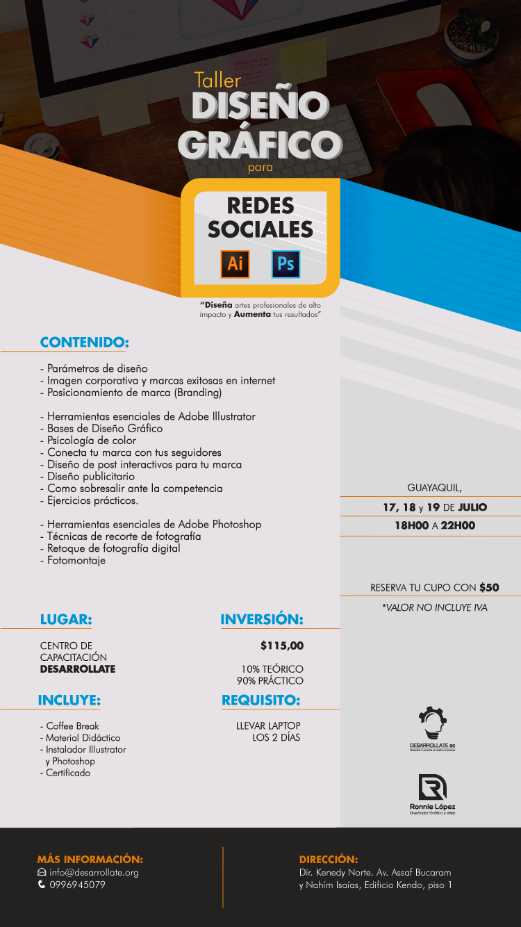 TALLER DISEÑO GRÁFICO REDES SOCIALES GUAYAQUIL