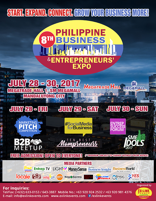 8th Philippine Business and Entrepreneurs' Expo PBEX 2017 Program as of June 2 2017