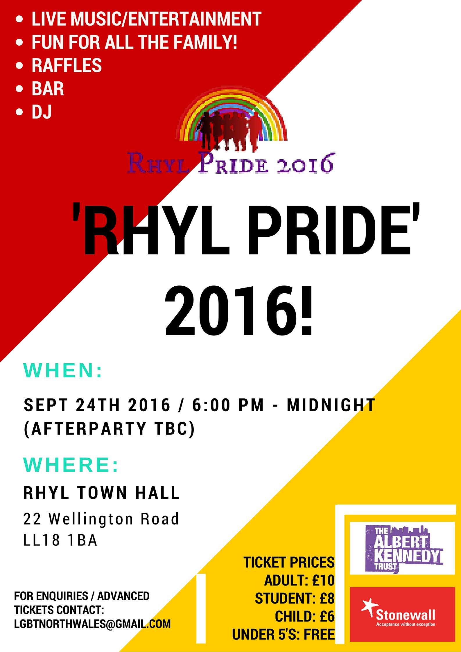 Rhyl pride 2016 poster