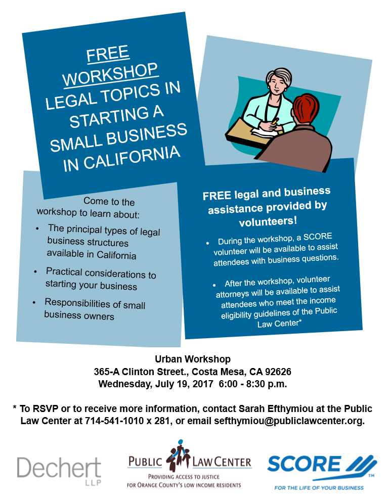 Legal Topics Starting CA Business