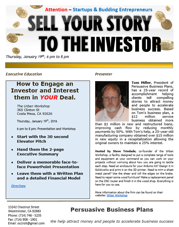 Sell Your Story Flyer