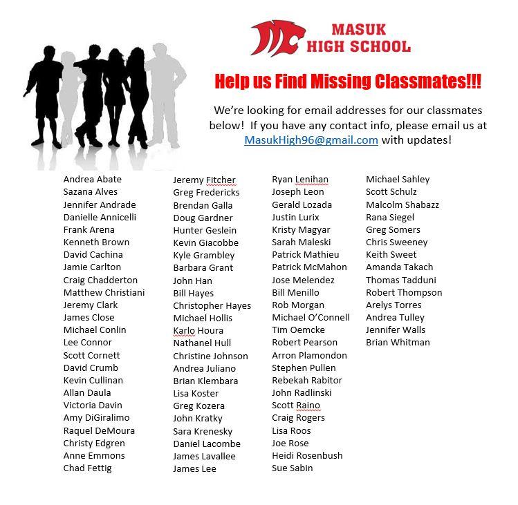 Missing Classmates 11/13/16