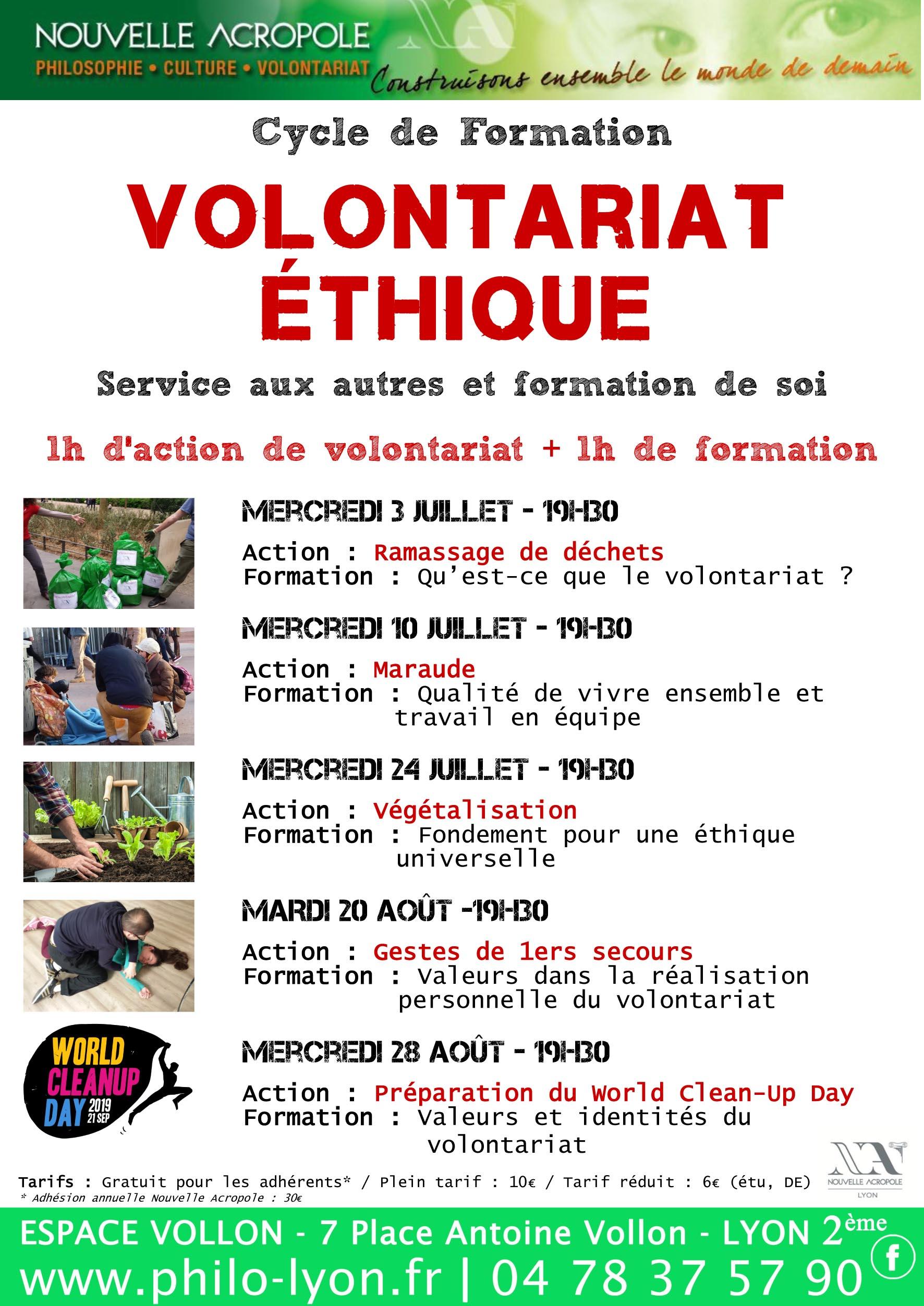 Nouvelle Acropole Lyon - Volontariat ethique