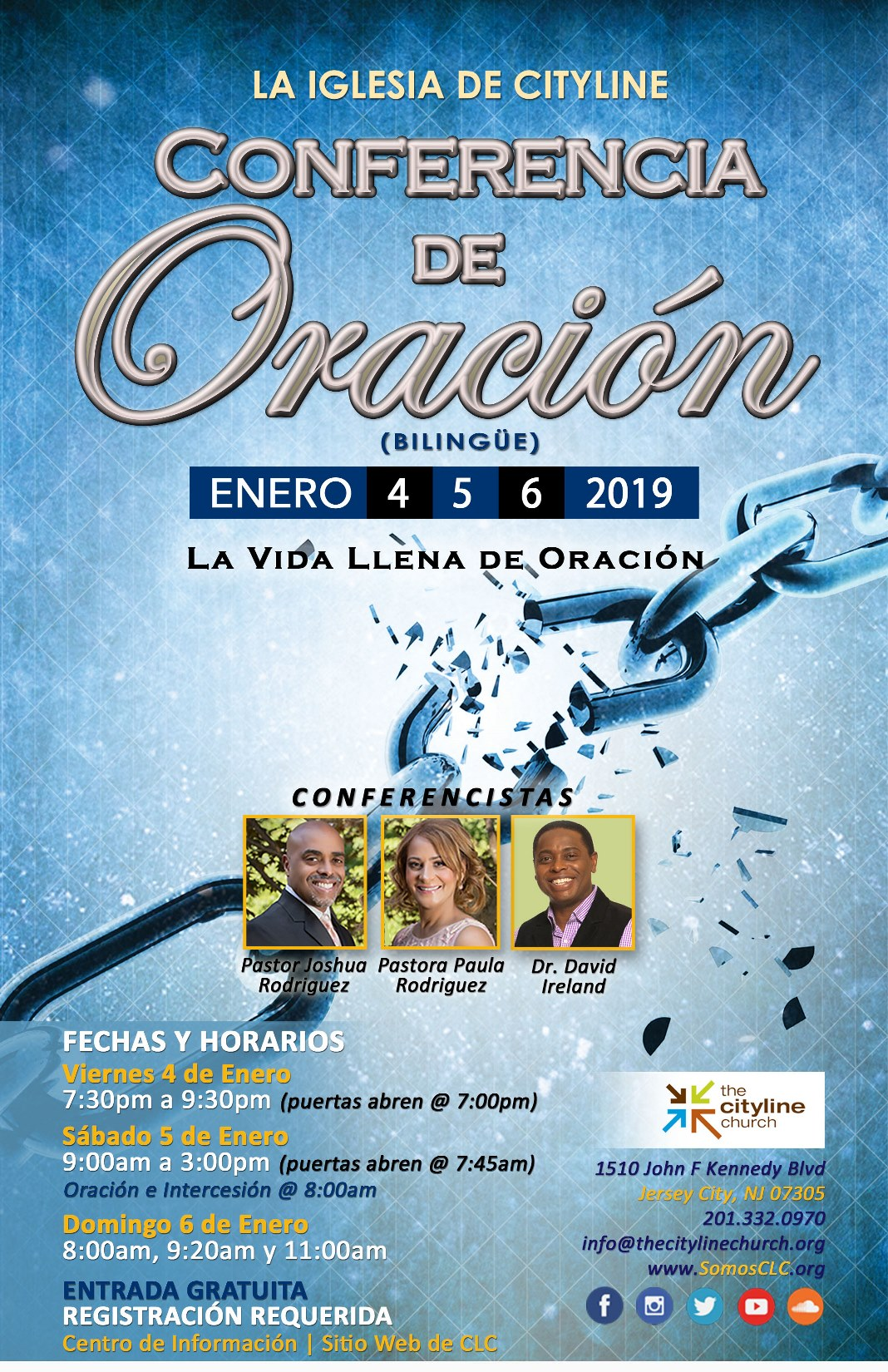 CLC Prayer Conference 2019 Flyer Spanish